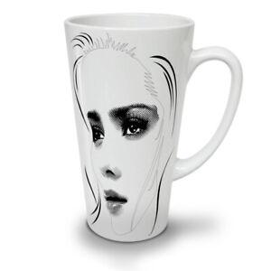 Girl Face Stylish NEW White Tea Coffee Latte Mug 12 17 oz   Wellcoda