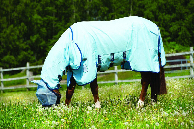 Horseware Rambo Sweet Itch HOODY VAMOOSE Fly Fly Fly Rug Midge/Insect Repellent 5'6
