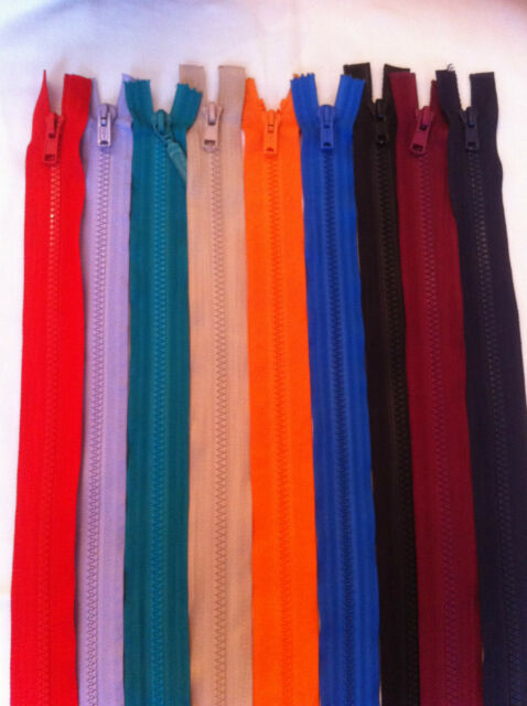NE CHUNKY OPEN END ZIPS PLASTIC MOULDED TEETH FROM £1.95 FREE PP ALL COLOURS