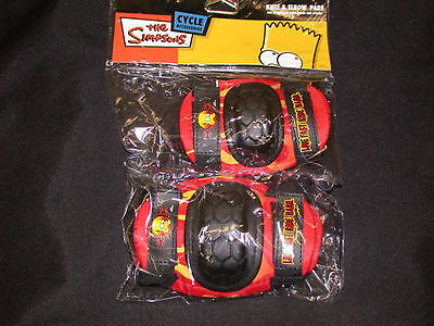 Qualifiziert Simpsons Junior Kids Bicycle Skate Knee And Elbow Safety Pads Pd8300