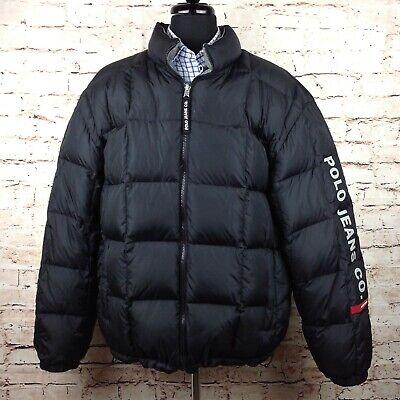 Ralph Lauren Polo Jeans Co XL Reversible Puffer Coat Down ...