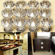 12Pcs 30mm Diamond Shape Crystal Acrylic Glass Drawer Cabinet Pull Handle Knobs