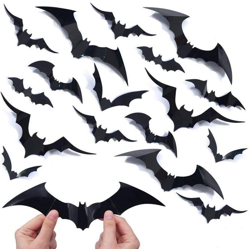 Bat Switch Sticker Cartoon Animals Halloween Decoration Vinyl Wall Stickers TO