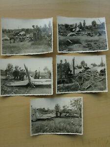 5-LW-Fotos-Luftwaffe-2-WK-Flugzeug-Abschuss-Truemmer
