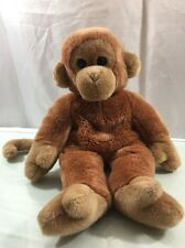 "Ty Beanie Buddies Bongo The Monkey Stuffed Plush Bean Bag Animal 14"" (1998)"