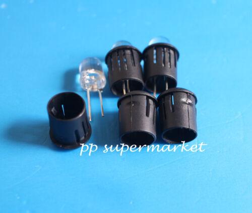 3mm 5mm 8mm Black Plastic LED Clip Holder Case Cup Bezels Mounting Cases