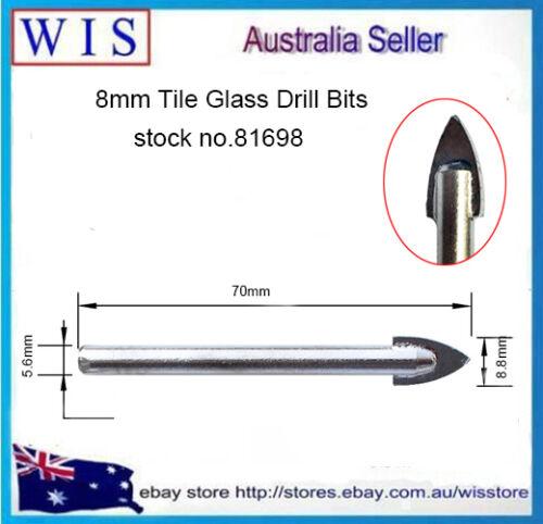 Tungsten Carbide China Ceramic Hole Saw 8mm Glass /& Tile /& Mirror Drill Bits