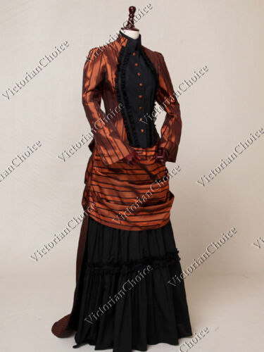 Victorian Costumes: Dresses, Saloon Girls, Southern Belle, Witch    Victorian Edwardian Riding Habit Bustle Dress Prom Gown Steampunk Clothing N 139 $93.00 AT vintagedancer.com