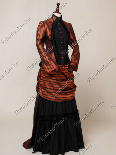 Victorian Dresses, Clothing: Patterns, Costumes, Custom Dresses   Victorian Edwardian Riding Habit Bustle Dress Prom Gown Steampunk Clothing N 139 $93.00 AT vintagedancer.com