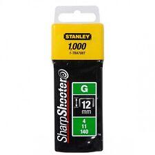 STANLEY Klammern Typ G,   12 mm  TRA708T 1000Stück kostenloser Versand