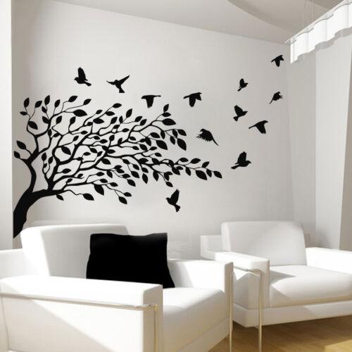 Tree Wall Decals Vinyl Bird Sticker Baby Tree Bedroom Art Home Decor Art Ah90