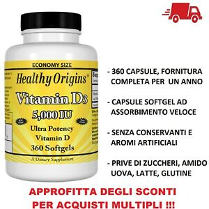 Healthy-Origins-Vitamina-D-3-D3-5000-IU-5000iu-360-Capsule-softgels-VITAMINE