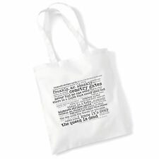 Art Studio Tote Bag THE SMITHS Lyrics Print Album Poster Gym Beach Shopper Gift