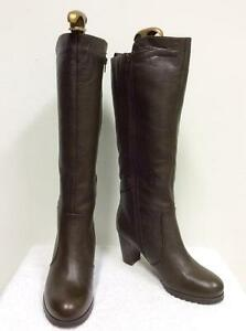 BRAND NEW NATURALIZER NATURALIZER NEW BROWN LEATHER FUR LINED KNEE LENGTH Stiefel SIZE ... ef76da