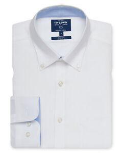 T-M-Lewin-Mens-Non-Iron-Casual-Slim-Fit-White-Button-Down-Shirt