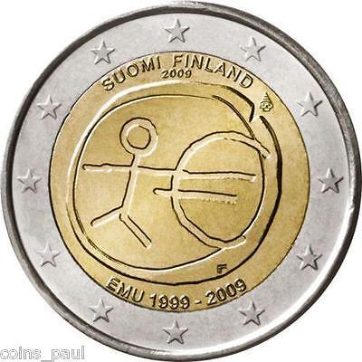 "Finland 2 euro 2009 /""EMU Introduction of the Euro/"" BiMetallic UNC"