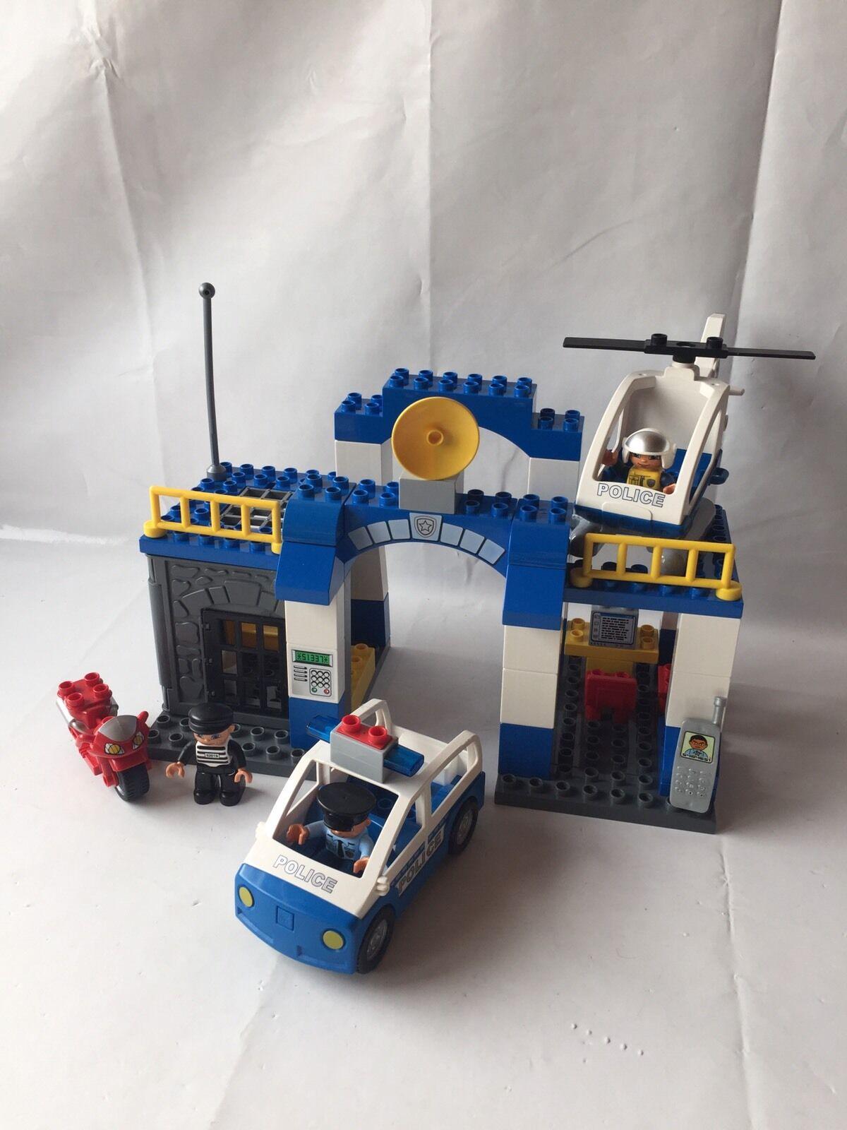 LEGO Duplo Polizeistation - Polizeiauto, Heli - Wache Gefängnis - Set 5681 kompl