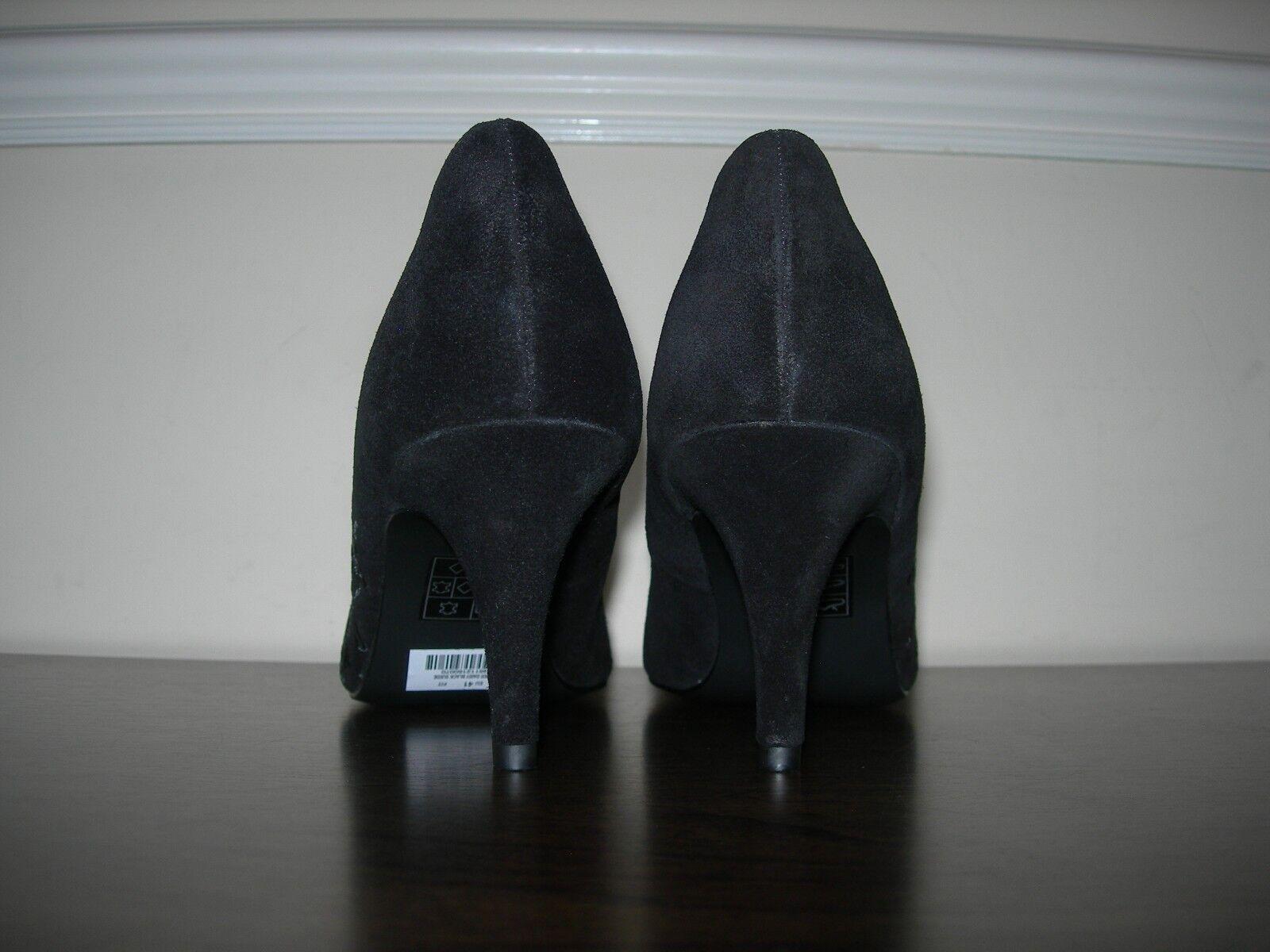 Clarks Mujer Tribunal Zapatos EU Tacones Negro Gamuza Detalle Bordado EU Zapatos 40 UK 7 277f2b