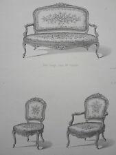 Canapé chaise fauteuil Cabriolet LOUIS XV le MAGASIN de MEUBLES V.QUETIN XIXéme