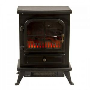 Electric Stove Fireplace Vintage Heater Cast Iron Fire Flame Effect Log Burning Ebay
