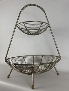 Vintage-Mid-Century-Modern-Retro-1950s-Atomic-Harry-Bertoia-Era-Fruit-Basket
