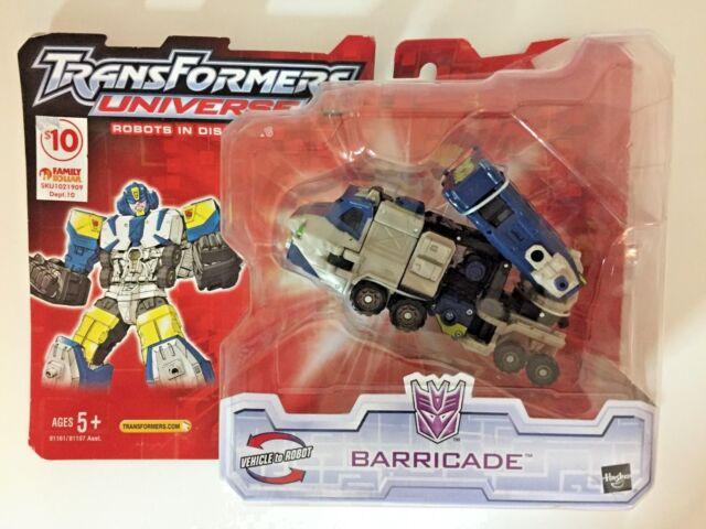BARRICADE Deluxe action figure TRANSFORMERS UNIVERSE Hasbro 2005