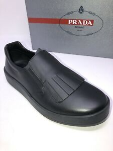e7e701142edc  800 New PRADA Mens Black Shoes Sneakers Size 6.5 US 5.5 UK 39.5 EU ...