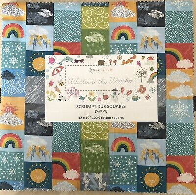 PATCHWORK//CRAFT FABRIC 100/% COTTON LEWIS /& IRENE WEATHER SPRING ON DUCK EGG