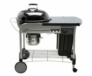 22 Inch Charcoal Grill Black Wheels Weber Thermometer BBQ ...