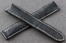 CARTIER Bracelet/Band Cuir/Leather 17/16mm Noir pour montre TANK