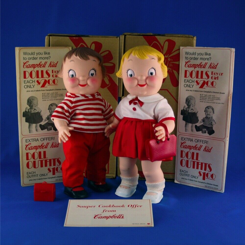1972 Campbell Kids Boy and Girl 10  MIB