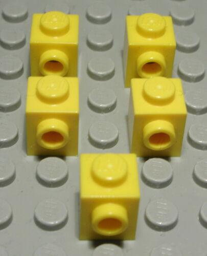 LEGO Pietra con 1x bottone trasversale 1x1 GIALLO 5 pezzi 1598 #
