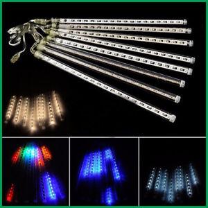 30cm-LED-Meteor-Light-Snow-Rain-Shower-8-Tube-Chain-Light-Christmas-Decor-RK989