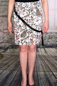 Black-Blue-Gold-Floral-Cotton-Pencil-Skirt-Size-12-New-EugeniaM-Designs