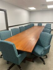 Solid Mahogany Conference Table With Chairs