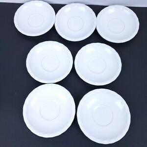 Set-7-Christian-Dior-French-Country-Rose-6-034-Saucer-for-coffee-cup-Oyster-white