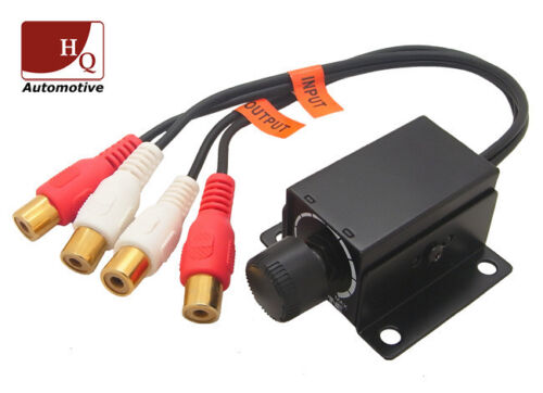LC-1 Universal Coche Hogar Amplificador bajo nivel de ganancia Rca Perilla de control de volumen