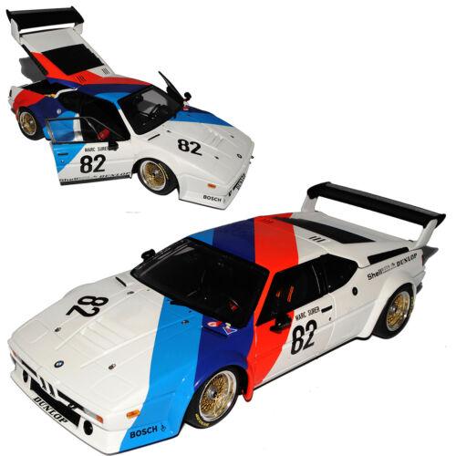 BMW M1 Procar Marc Surer Eifelrennen DRM 1979 1//18 Minichamps Modell Auto mit od