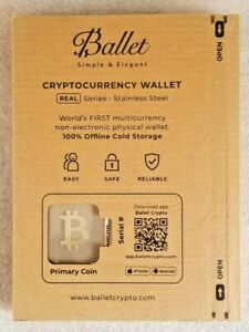 【 Bitcoin 】 Ballet Cryptocurrency Wallet - Offline Cold Storage - Non-electronic