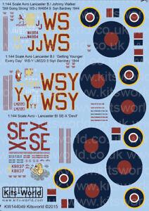 Kits-World-Adhesivos-1-144-Avro-Lancaster-B-i-III-1944-144049