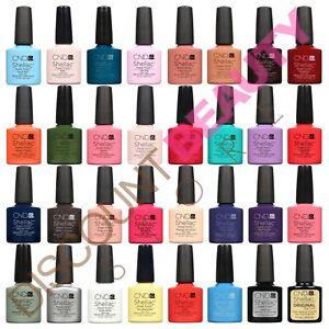 CND Shellac UV Gel Nail Power Polish ALL Colours, Top Coat or Base Coat