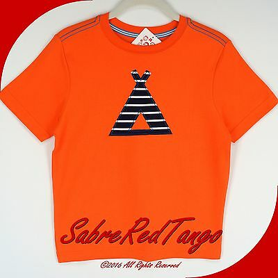 NWT HANNA ANDERSSON GET APPY TEE TOP SHIRT TIGER ORANGE TEEPEE TENT 120 6 7