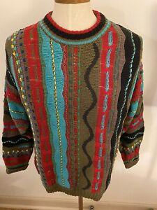 Vintage-Kalaroo-Australien-Mercerized-Cotton-Pullover-Herren-L-Retro-3d-Bill-Cosby