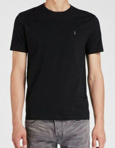 ALLSAINTS BRACE SHORT SLEEVE CREW BLACK T-SHIRT TOP