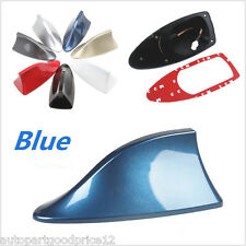 Car SUV Van Universal Blue Shark Fin Top Roof AM/FM Radio Signal Aerial Antenna