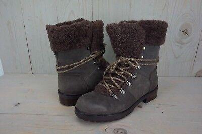 b3b86efaa8e UGG FRASER 1018896 stout LEATHER SHEEPSKIN HIKING SNOW WINTER BOOTS US 11  NIB 190108821123 | eBay