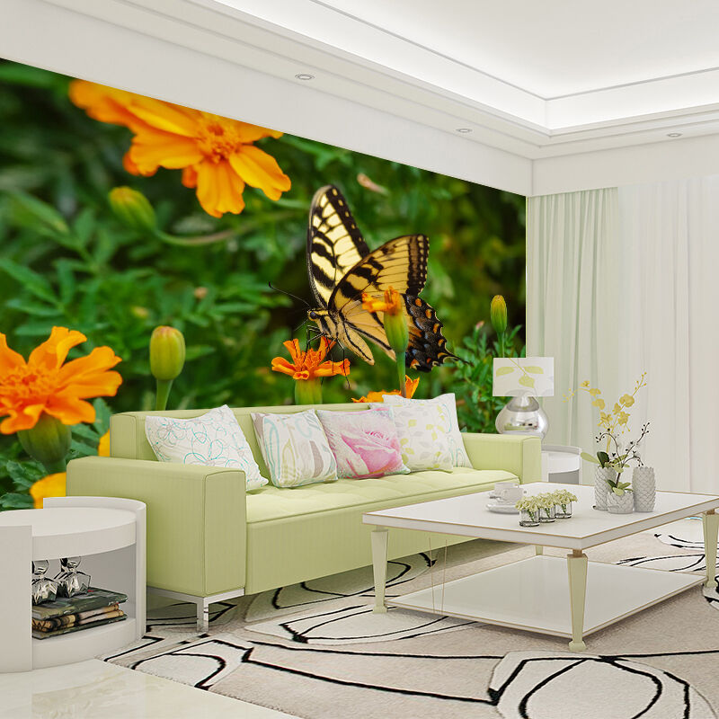 3D Butterfly Flowers 19 WallPaper Murals Wall Print Decal Wall Deco AJ WALLPAPER