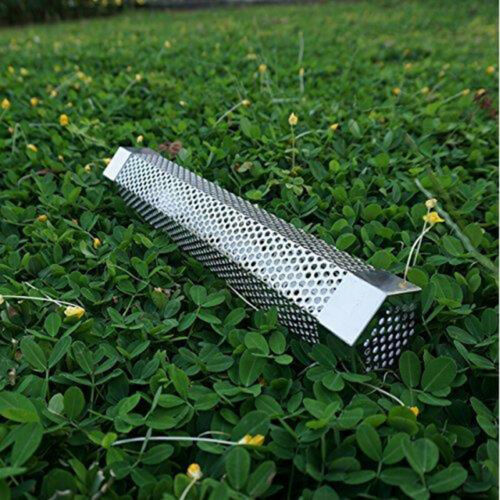 Barbecue Smokehouse BBQ Smoker Tube Generator Grill Mesh for Wood Chips Brush