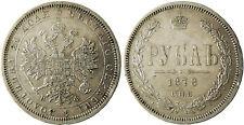 RUSSIE  ,  ALEXANDRE  II  ,  ROUBLE  ARGENT  1878   SAINT  PETERSBURG