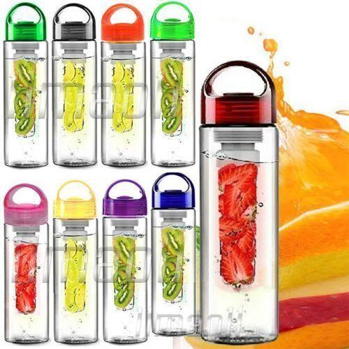 800ML fruits fuzer infusant water case bouteille sport santé jus de citron maker uk